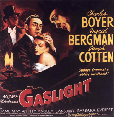 Film poster for 'Gaslight' directed by George Cukor